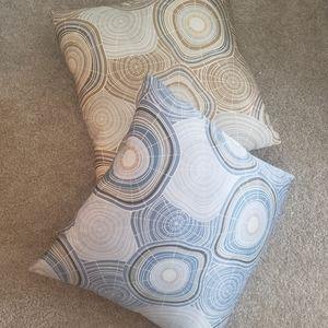 """2 West Elm Silk 20""""x20"""" Throw Pillows"""